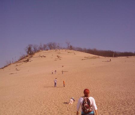 Front of dunes