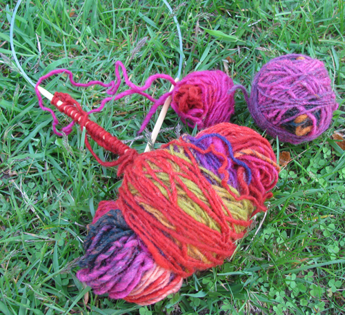 May entrelac skeins