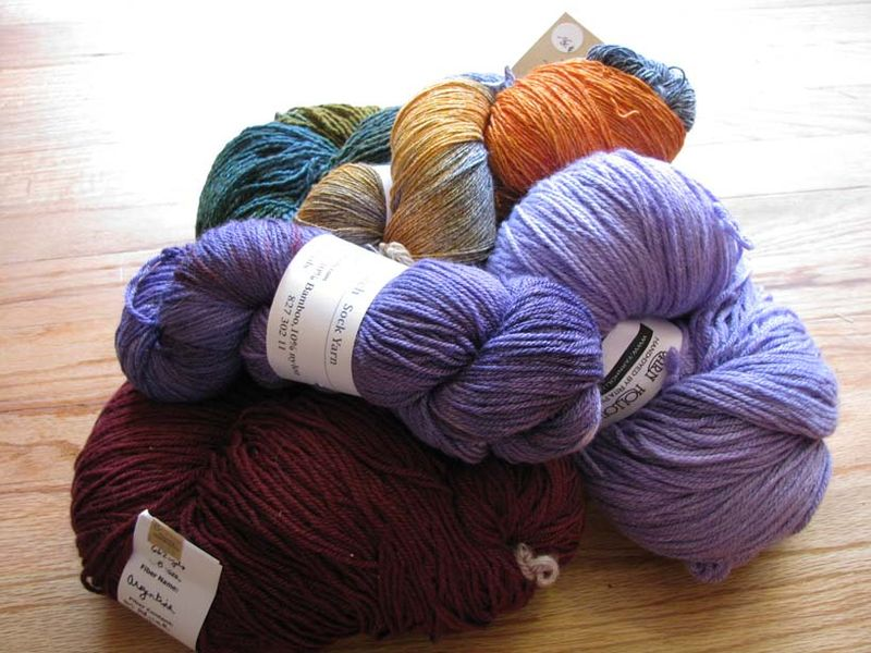 March 2011 knit-in yarn 2