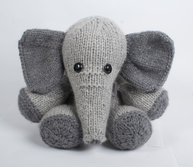 Knitted Elephant Pattern : Knitcircus