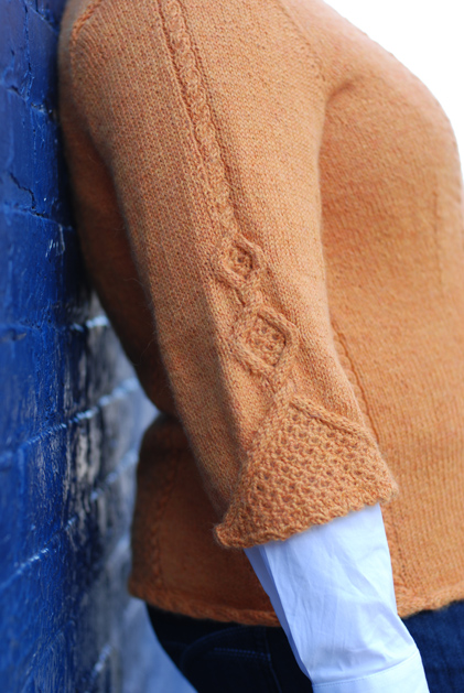 Sweet c sweater arm detail